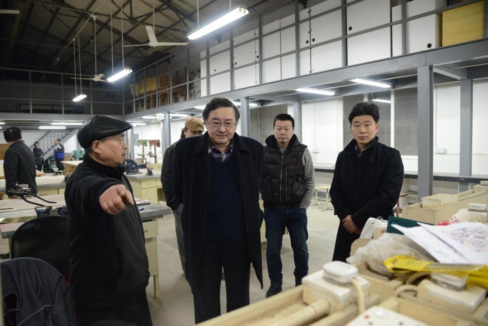 蒋昌俊校长赴服装与艺术设计学院调研